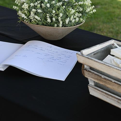 מחברת זכרון להלוויה